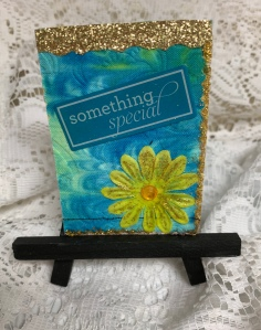 """Something Special"" ATC created by Leona J. Atkinson 2019"