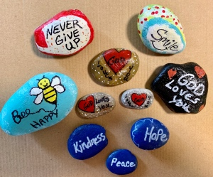 Painted Kindness Rocks and God Loves You Rocks