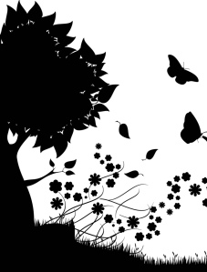 Tree, nature, butterflies