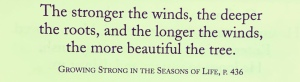 "Quote from Chuck Swindoll from his book ""Growing Strong in the Seasons of Life"""