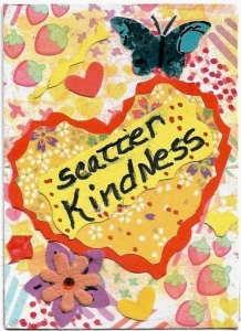 Scatter kindness mixed media art