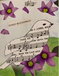 Song bird, daily blessings card