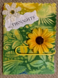 "Tiny Handmade Journal titled ""Thoughts"" created by LeonasDesigns 2019"