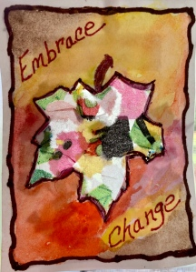 Autumn Leaf sun catcher ATC created by LeonasDesigns