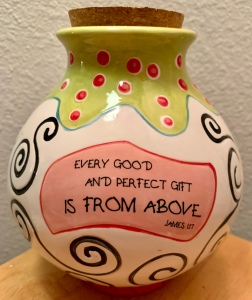 Jar with James 1:17 scripture