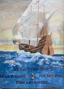 Sailing ship, scripture, Hebrews 6:19,
