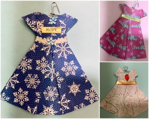 Handmade Origami Dress Ornaments