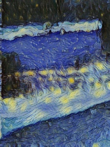 """Radiance"" original digitally enhanced photo of an oil slick by LeonasDesigns"