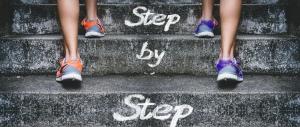 Steps, feet climbing steps