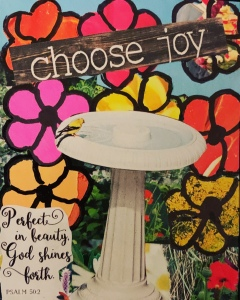 """Choose Joy"" original paper collage by Leonas Designs ©️2020"