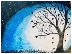 """Tree of Love"" drawing by Leona J. Atkinson ©️2020"