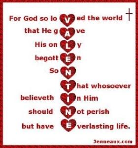 God's Valentine. John 3:16