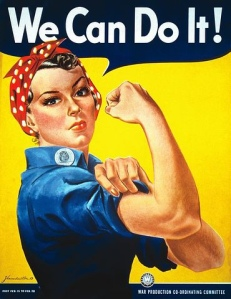We Can Do It image of Rosie the Riveter  from Pixabay.com