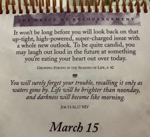 "Photo of March 15 ""The Grace of Encouragement""calendar page"