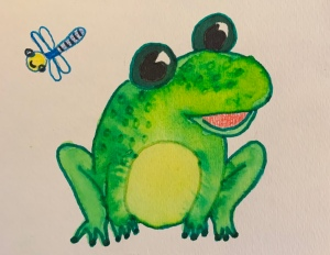 Watercolor Frog by Leona J. Atkinson 2020