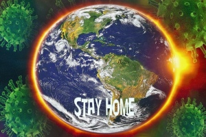 "Earth ""stay home"" inage"