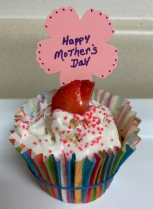 Mothers Day Strawberry Cupcake
