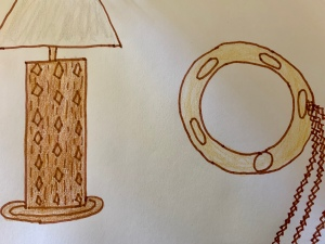 Lamp and Tamborine drawing
