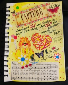 "Art Journal page ""Joy"" by Leona J.Atkinson 2020"