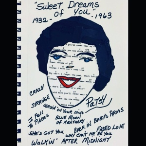 Portrait Collage of Patsy Cline by LeonasDesigns 2020