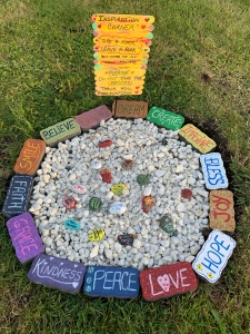 Inspiration Rock Garden created by Leona J Atkinson June 2020