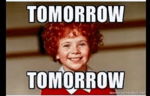 "Tomorrow Tomorrow MeMe of ""Annie"""