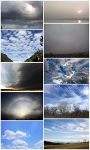 10 different photos of clouds