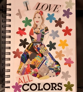 "Paper Collage titled"" I Love All Colors"" by Leona J. Atkinson"