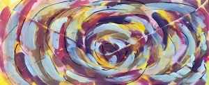 Chaos acrylic painting