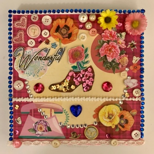 Original mixed media collage created by my grand-daughter Victoria