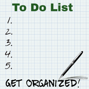 Get Organized To Do List